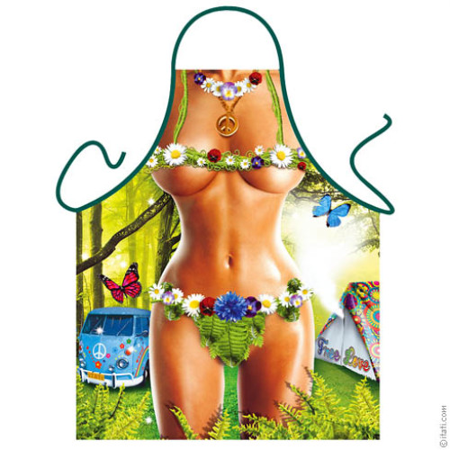 Hippie woman apron