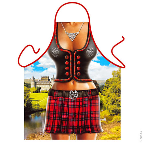 Scottish woman apron