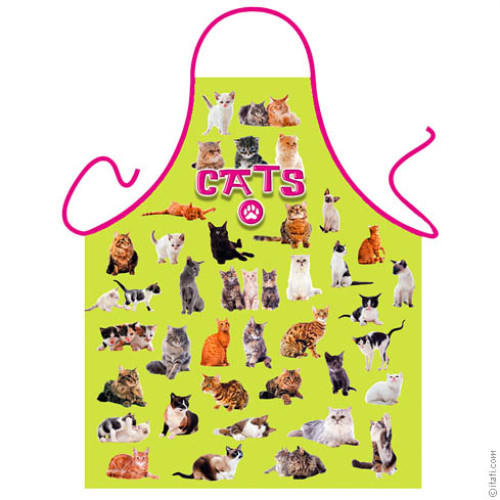 Cats green apron
