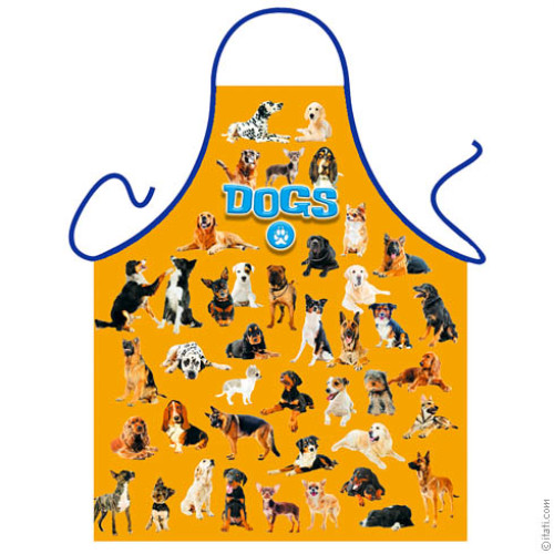 Dog orange apron