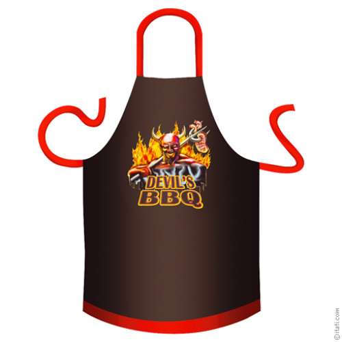 Devil's BBQ cotton apron
