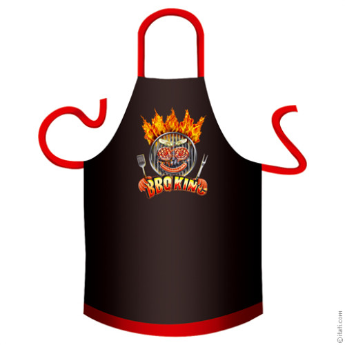Grembiule da barbecue in cotone BBQ King