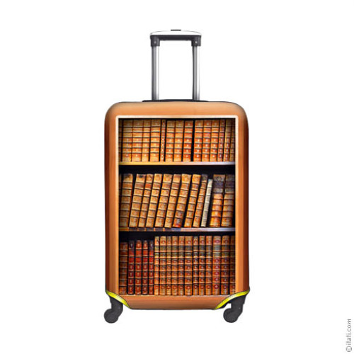 SUITCASE COVER Bookcase