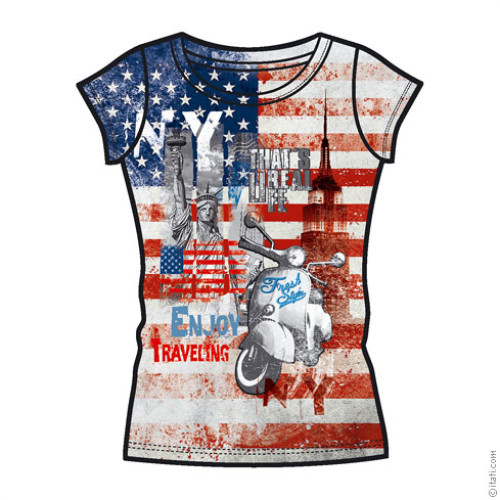 T-SHIRT FASHION DONNA New York