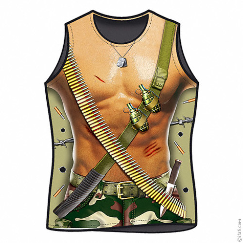 Military Zone Man sexy T-shirt