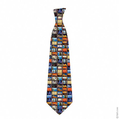 Italian art collage tie