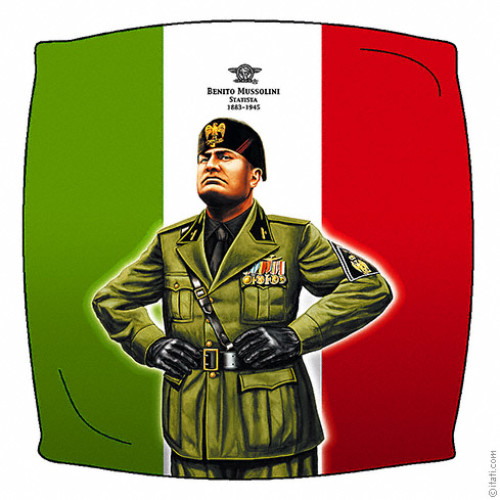 Benito Mussolini cushion