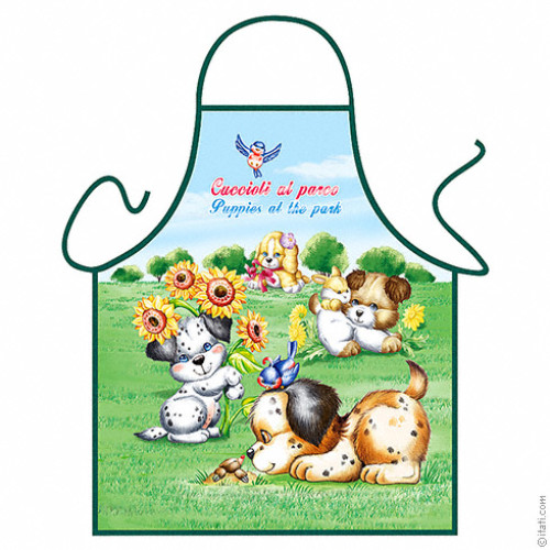 Puppies at the Park apron
