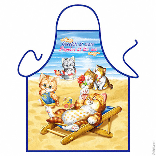 Puppies at the Beach apron FOR CHILDREN