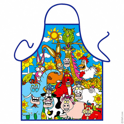 Smiling Animals apron