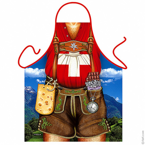 Swiss man apron