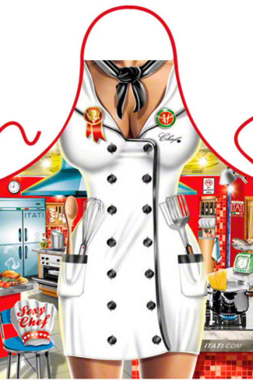 Sexy woman chef apron