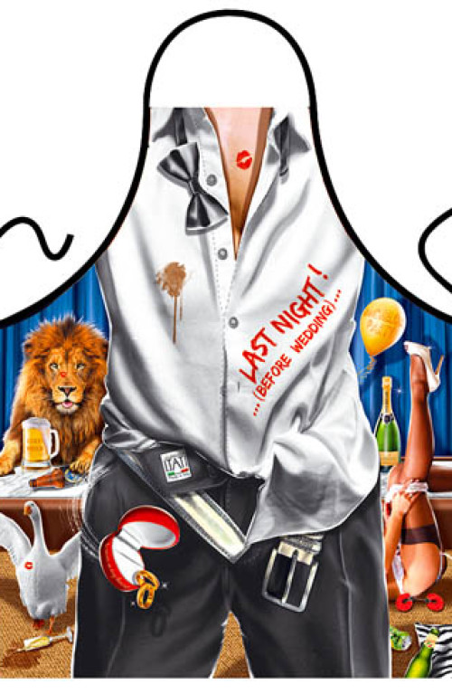 Bachelor party apron