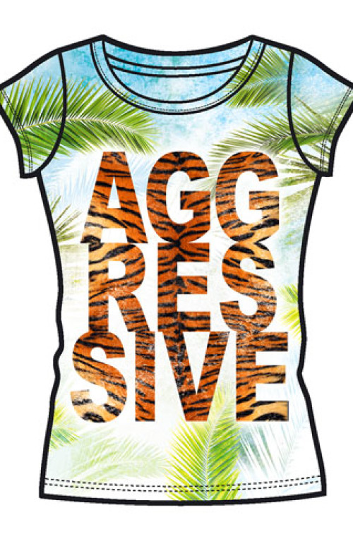 FASHION WOMAN T-SHIRT Aggressive