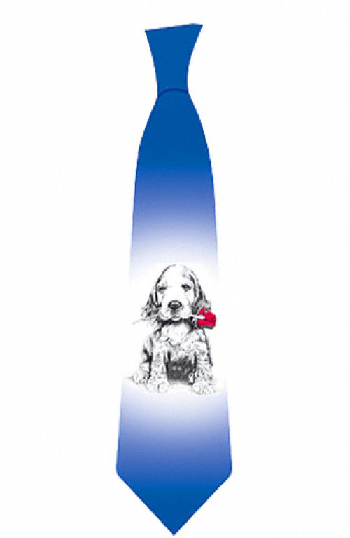 Dog with rose tie