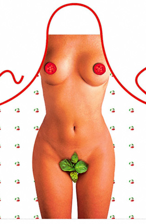 Tomato and basil woman apron