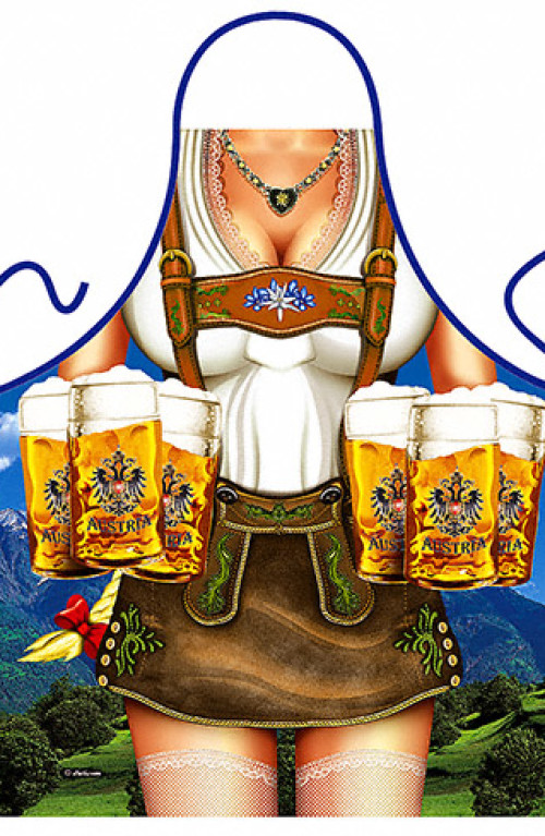 Beer austrian woman apron