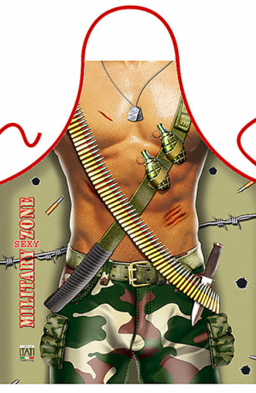 Military Sexy Zone Man apron