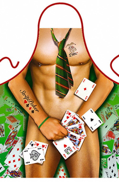 Strip Poker Man apron