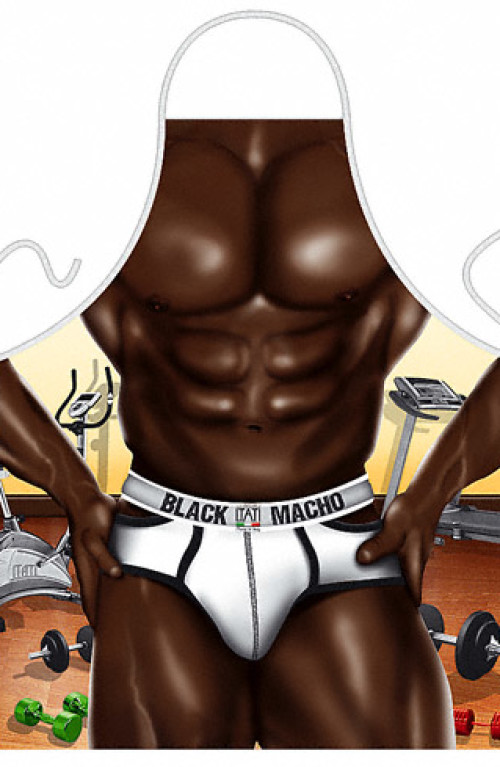 Black Macho apron