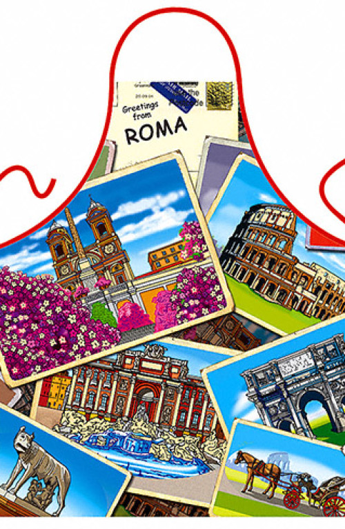 Rome's postcards apron